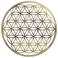 HEIL SEIN - EINS SEIN, HeilSein - EinsSein, Goldene Energie, Blume des Lebens gold, Samarpita SeinsHeilung, Christusenergie, befreites Dasein, lebendiges Leben, hier und jetzt, Licht - Liebe - Heil,
